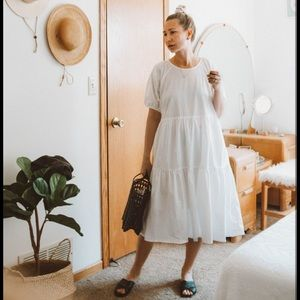 ISO Everlane Tiered Cotton Dress